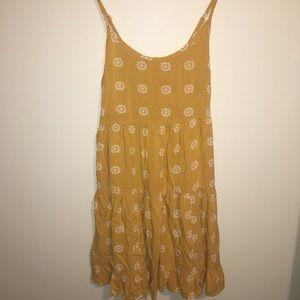 Yellow strap dress
